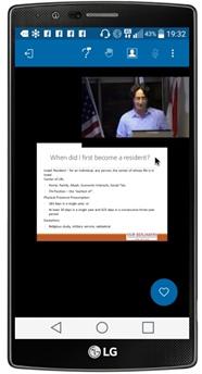 וידאו וובינר במכשיר נייד